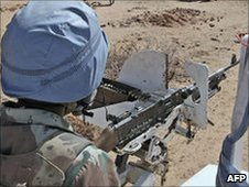 Peacekeepers in Darfur (file photo)