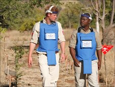 Prince Harry with Halo charity worker