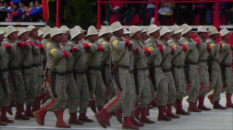 Military show in the Venezuelan capital Caracas