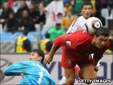 Christiano Ronaldo scores Potugal's sixth goal