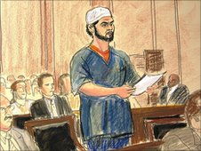 Faisal Shahzad courtroom sketch 21.6.10