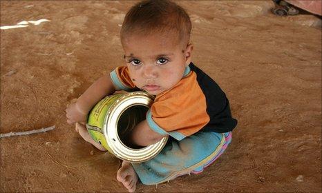 Bedouin child in West Bank