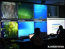Engineers directing remotely operated vehicles (Image: Rozalia Hristova)