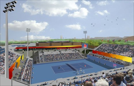 Artist's impression of Eton Manor Wheelchair Tennis Court