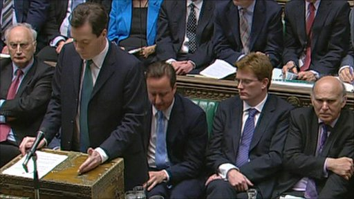 George Osborne at despatch box