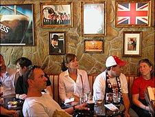 Slovenian fans in Ljubljana's England Pub