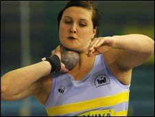 Shot putter Rachel Wallader