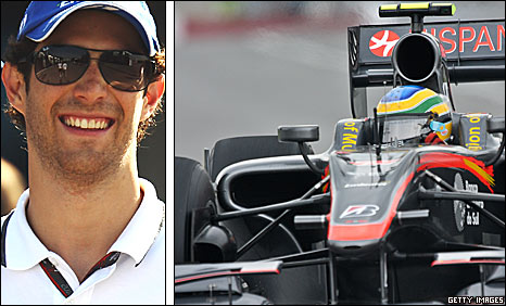 Hispania driver Bruno Senna