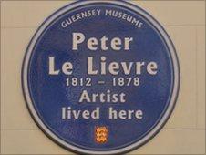 Peter Le Lievre blue plaque