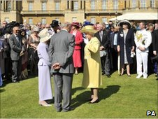The Queen at a garden party