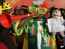 A South Africa fan in Durban - 22 June 2010