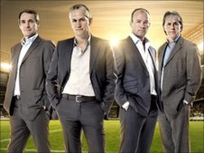 Alan Hansen, Gary Lineker, Alan Shearer and Mark Lawrenson