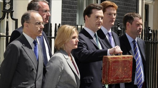 George Osborne with budget box