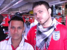 Mohibul Haque (left) with Nick Day.