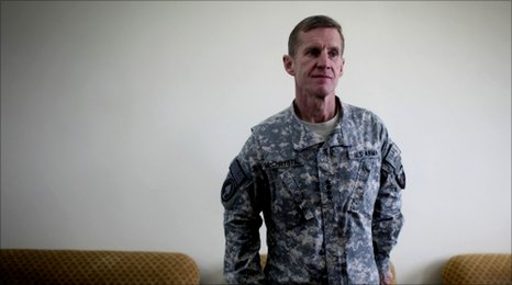 General Stanley McChrystal, file pic March 2010