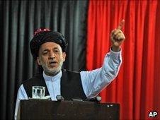Afghan President Hamid Karzai, file pic June 2010