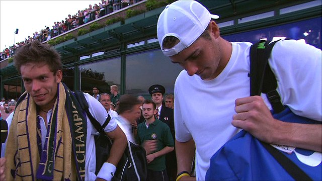 France&amp;apos;s Nicolas Mahut and American John Isner