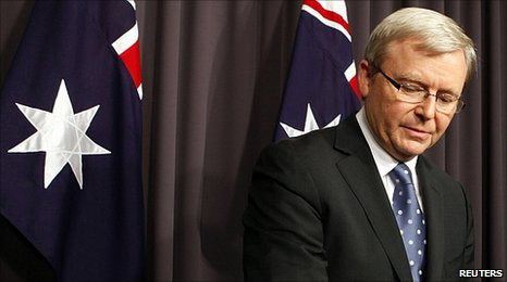 Kevin Rudd announces the leadership contest (23 June 2010)