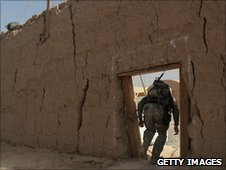 US soldier at remote base in Kandahar