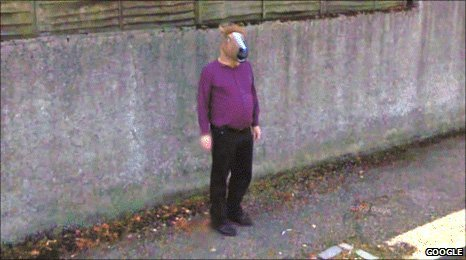 &#039;Horse boy&#039;on Google Street View