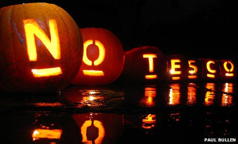 No Tesco pumpkin lanterns from 2008