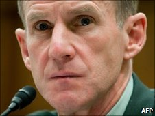 Gen Stanley McChrystal in December 2009