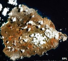 Satellite image of Ascension Island