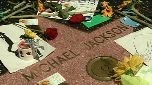 Michael Jackson' star on the Hollywood Walk of Fame