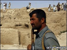 Security officer at a mining site in Afghanistan
