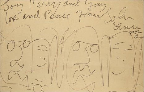 Cartoon by John Lennon, 1969