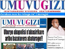 Screen grab of Umuvugizi website