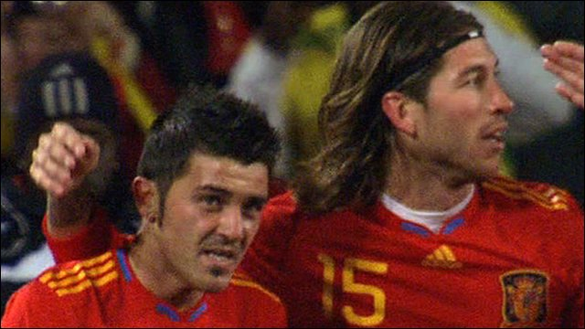 David Villa and Sergio Ramos
