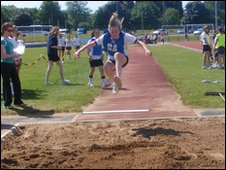 Lurgan Junior High School sports day, Co. Armagh, Northern Ireland