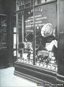 Spillers record shop in olden days