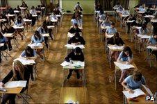 Pupils sit exams