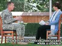 Gen McChrystal speaks to the BBC's Lyse Doucet
