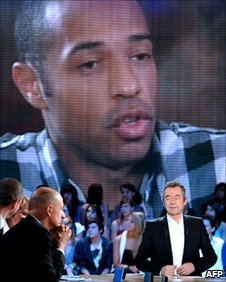 Thierry Henry on French TV