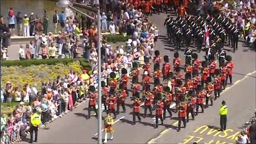 The Armed Forces Day parade winds its way through Cardiff