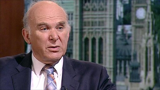 Business Secretary, Vince Cable
