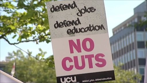 No Cuts Protest