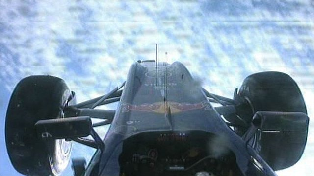Mark Webber&amp;apos;s car flips in the air