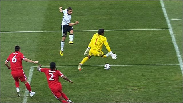 Lukas Podolski makes it 2-0 to Germany