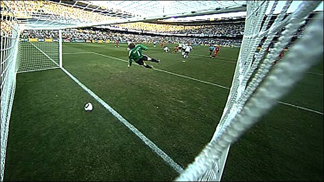 Frank Lampard&amp;apos;s shot against Germany