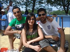 Jasmin Dhillon, Varan Bagga and Tikki Bishwakarma