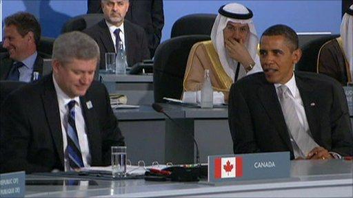 Stephen Harper and Barack Obama