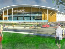 Image of the Worcester Arena (pic from University of Worcester)