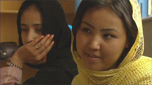 Female prisoners in Kabul