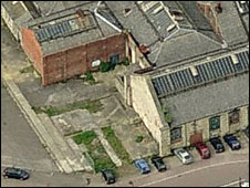 Chain Test House, aerial view