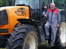 Colin Turner with his Renault Tractor