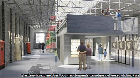 Artist's impression of the proposed British Postal Museum & Archive